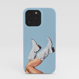 These Boots - Glitter Blue iPhone Case
