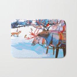 Reindeers and friends Bath Mat