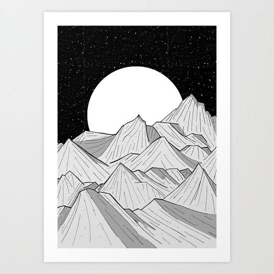 Big moon mounts Art Print