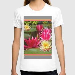 FUCHSIA PINK & YELLOW WATER LILIES T-shirt