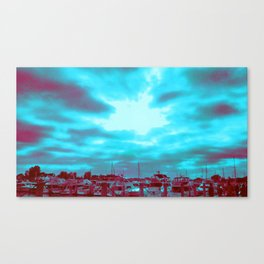High Rise and Blue Skies Canvas Print