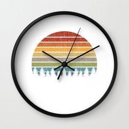 Rainbow Forest Hiking Camper Shirt T-Shirt Wall Clock