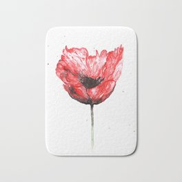 Poppy blooming 2 Bath Mat