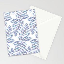 Fern Leaf - Blue Palette Stationery Cards