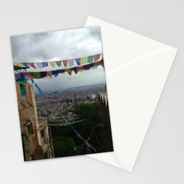 Prayers flags over Kathmandu Stationery Cards