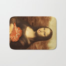 Mona Lisa Loves Valentine's Candy Bath Mat