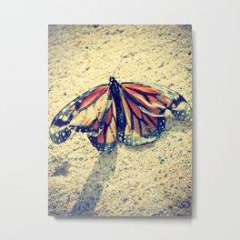 Crinkled Wings Metal Print