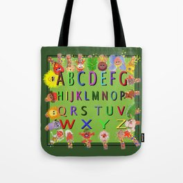 ABC's With Characters Tote Bag