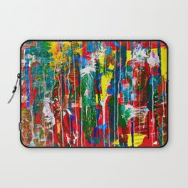 Abstract Paint Drips Laptop Sleeve