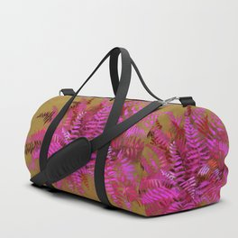 Fern, pink and gold Duffle Bag