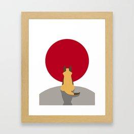 The Sun Fox Framed Art Print