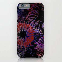 labor day pattern iPhone Case