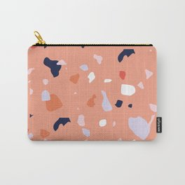 Peach Terrazzo Carry-All Pouch