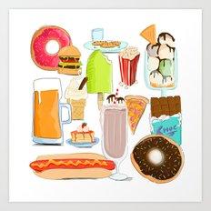 Food Stuffs Art Print
