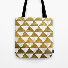 Marble and Gold Pattern #3 Tote Bag