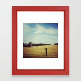 Field. Framed Art Print