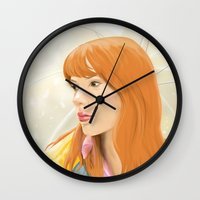 lost in translation Wall Clocks featuring Lost In Translation - Charlotte by Tanita
