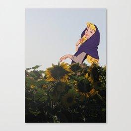 Belle aux tournesols Canvas Print