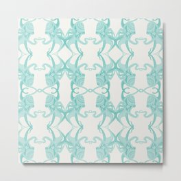 Blue Octacluar Octopus Metal Print
