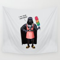 darth vader Wall Tapestries featuring Darth Vader by Altay