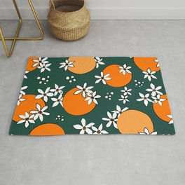 Midnight Citrus Pattern No 06 Rug
