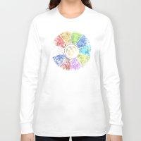 magic the gathering Long Sleeve T-shirts featuring Magic the Gathering - Faded Guild Wheel by omgitsmagic