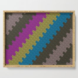 Colorful Zigzag Pattern Serving Tray