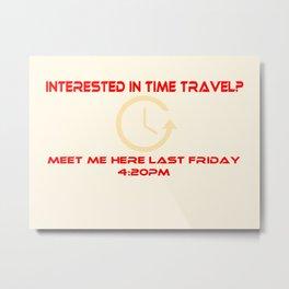 Time Traveller Metal Print