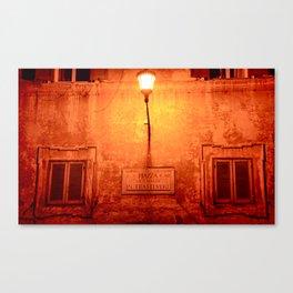 Night in Trastevere Canvas Print