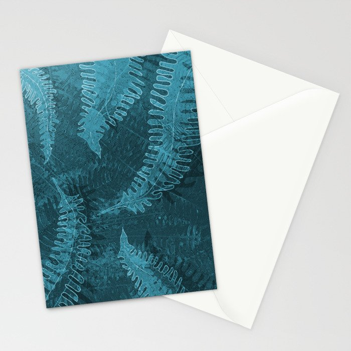 Ferns (light) abstract design Stationery Cards