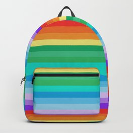 Multi-coloured Horizontal Stripes 900 Backpack