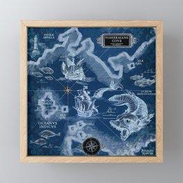 Fisherman's Cove Blue Framed Mini Art Print