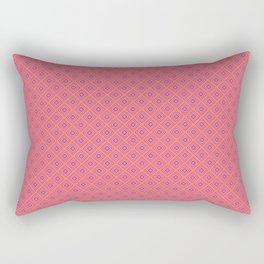 Pink and Coral Diamond Pattern Rectangular Pillow