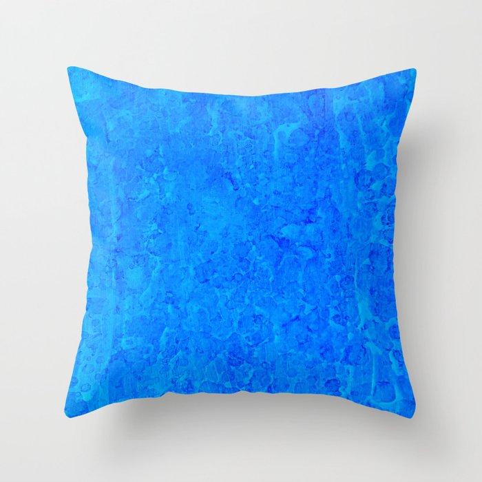 Blue Rain Throw Pillow