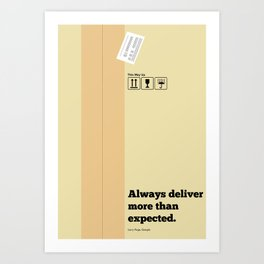 Lab No. 4 - Always Deliver More Than Expected Motivational Typography Quotes Poster Art Print