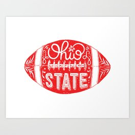 Ohio State Football Art Print