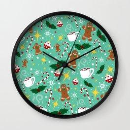 Jolly Holidays Wall Clock