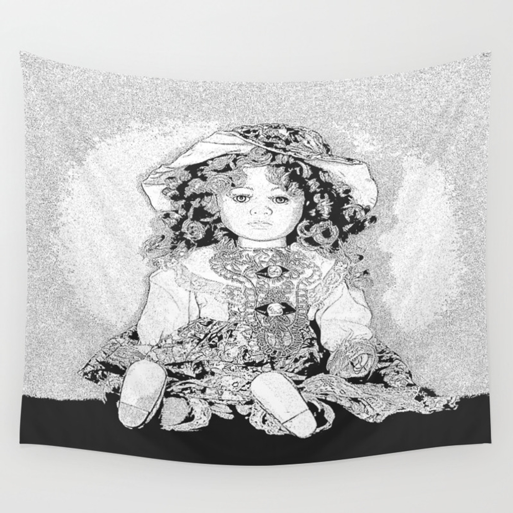 Lovely Doll Wall Tapestry by Pivivikstrm TPS3955395