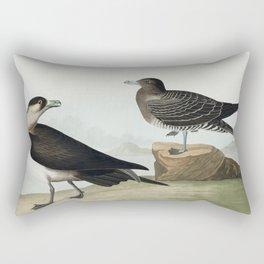 Black-throated Guillemot Nobbed-billed Auk Curled-crested Auk and Horned-billed Guillemot from Birds Rectangular Pillow