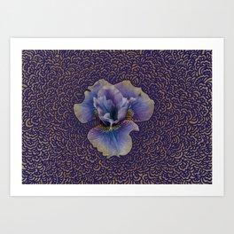 Iris Drawing Meditation Art Print