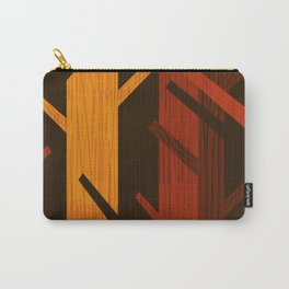Retro Fall Woods by Friztin Carry-All Pouch