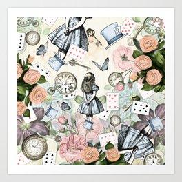 Alice In Wonderland Collage II Art Print