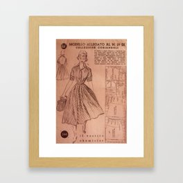 Vintage sewing pattern, 1950s  Framed Art Print