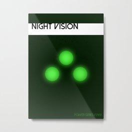 Night Vision Power Metal Print