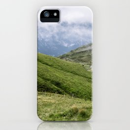Swiss Alps mountain First iPhone Case