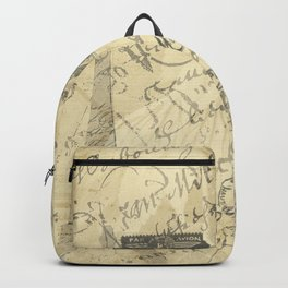 Parisian French Script Backpack
