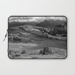 Wilderness Ahead Black-and-White Laptop Sleeve