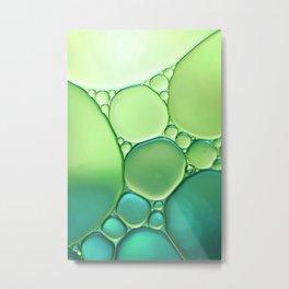 Jade Ombre Bubbles Metal Print