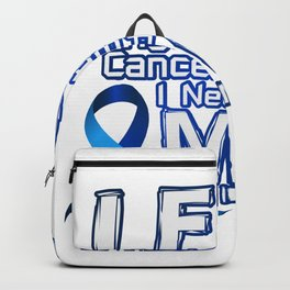 Fight Against Colon Cancer For Mom Backpack