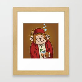 Monty Framed Art Print